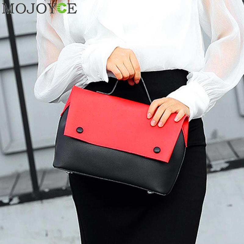 2018 Fashion Designer Crossbody Bag 2pcs/Set PU Patchwork Women Messenger Bags Handbags Ladies Famous Brands Shoulder Clutch 1