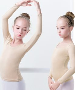 Girls Adult Nude Ballet Dance Clothes Soft Comfortable Underwear Microfiber Body Shaping Warmer Ballet Tops