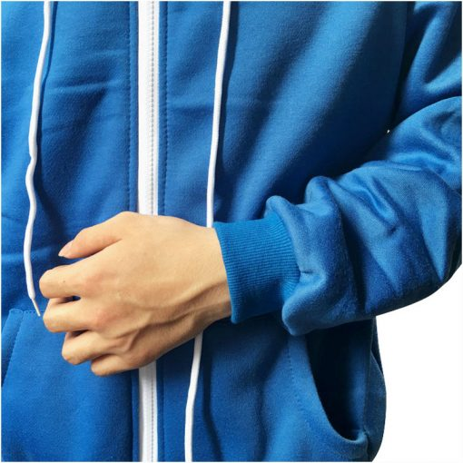 Sans Costume Undertale Cosplay Blue Hoodie Skeleton Brother Coat Men Adult Warm Thick Top Winter Zipper Long Sleeve Sweatshirt 4