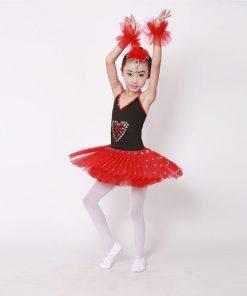 Child Strap Swan Lake Ballet Tutu Costume Performance Girls Children Ballerina Dress Kids Ballet 1