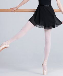 Adults Lyrical Chiffon Dance Skirts Transparent Women Tie Skirt Pull-On Wrap Ballet Dance Wear 1