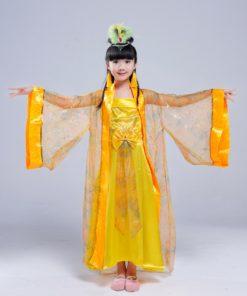 DJGRSTER New Girls Chinese Folk Dance Fairy Costume Children Classical Hanfu Costume Traditional Ancient Chinese Clothing Hanfu 1