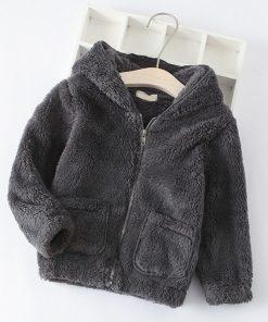 Bear Leader Kids Coats 2018 New Winter Fashion Casual Unisex Coats Lamb Zipper Full Sleeve Children Coats For 3T-7T 1