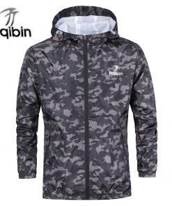 3XL Plus Size 2018 Spring Autumn Mens Casual Camouflage Hoodie Jacket Men Waterproof Clothes Men's Windbreaker Coat Male Outwear