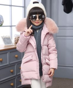 2018 Fashion Girl winter down Jackets Children Coats warm baby 100% thick duck Down Kids Outerwears for cold -30 degree jacket 1