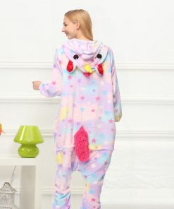 Star Unicorn Kigurumi Onesie Costume Jumpsuit Soft Fancy Carnival Onepiece Animal Cosplay for Women Girl Adult Kid Home Wear 1