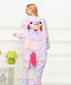 Star Unicorn Kigurumi Onesie Costume Jumpsuit Soft Fancy Carnival Onepiece Animal Cosplay for Women Girl Adult Kid Home Wear 1