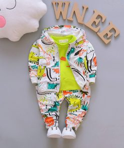 Children Boys Clothes Sets for Girl Baby Suit High Quality Cartoon Spring Autumn Coat+ T shirt +Pants Set Kids Clothing Set 1-4Y 1