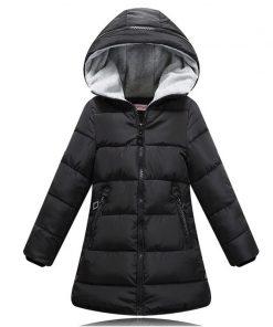 2018 spring Winter jacket for girls clothes Cotton Padded Hooded Kids Coat Children clothing girl Parkas enfant Jackets & Coats 1