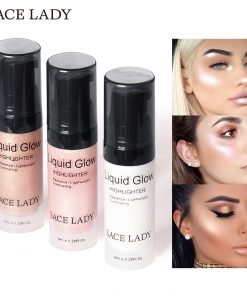 SACE LADY Face Highlighter Cream Liquid Illuminator Makeup Shimmer Glow Kit Make Up Facial Brighten Shine Brand Cosmetic