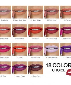SACE LADY Matte Lipstick 18 Colors Long Lasting Red Lip Stick Waterproof Makeup Brand Comfortable Make Up Moisturizer Cosmetic 1