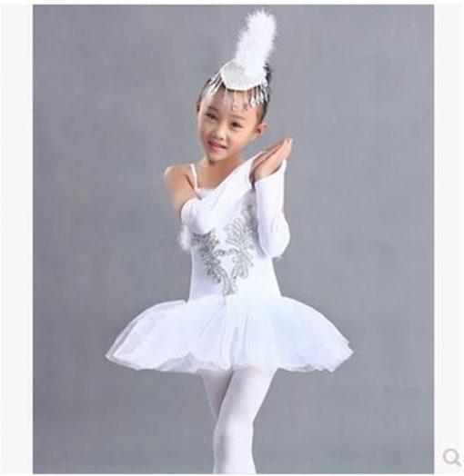 Children Swan Lake Ballet Costume Girl White Ballet Dress Dancewear  Kids Ballet Outfit