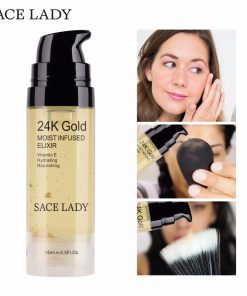 SACE LADY Face Serum 24K Gold Essence Elixir Facial Oil Moisturizing Foil Cream Vitamin E Hyaluronan Acid Hydrating Skin Care