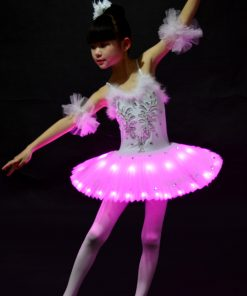 Profession Ballet Tutu Child LED Costume Kids Swan Lake Pancake Girl Ballet Dress for Party Hallow Costumes