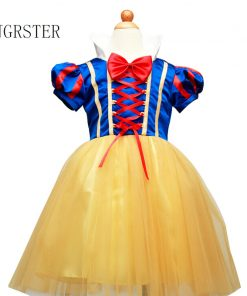 DJGRSTER Girls Snow White Princess Dresses Kids Girls Halloween Party Christmas Cosplay Dresses Costume Children Girl Clothing 1