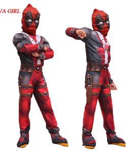LIVA GIRL New Arrival Deluxe Boys Marvel Anti-Hero Deadpool Children Muscle Movie Halloween Carnival Party Cosplay Costume