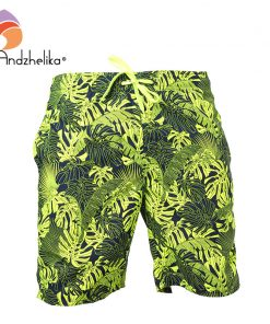 Andzhelika Swimwear Men Swim Shorts Swimming Print Trunks Surf Beach Sport home Suit Men Trunks Swimsuit AK3717