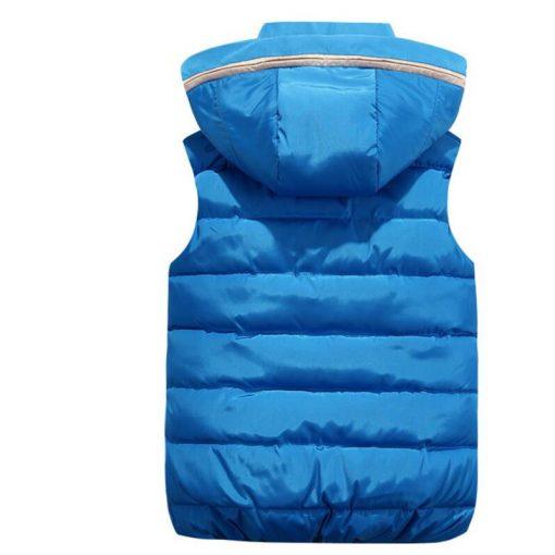 2018 NEW Autumn Winter Men Warm Vest Detachable Cap Cotton Femme Sleeveless Jacket Casual Cardigan Waistcoat 3XL 2