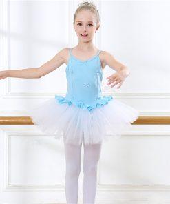 Girl Strap Ballet Dance Skirt Cute Dancing Ballet Sweetheart Tutu Dress Leotard for a ballerina Stage Performance Training  1