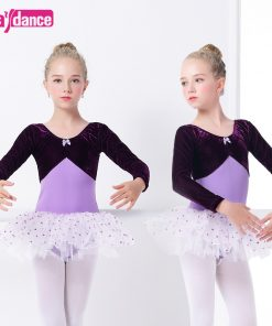 Toddler Girls Velvet Ballet Costumes Clothing Professional Dancing Dresses Ballet Leotard Dot Tutu Dress 1