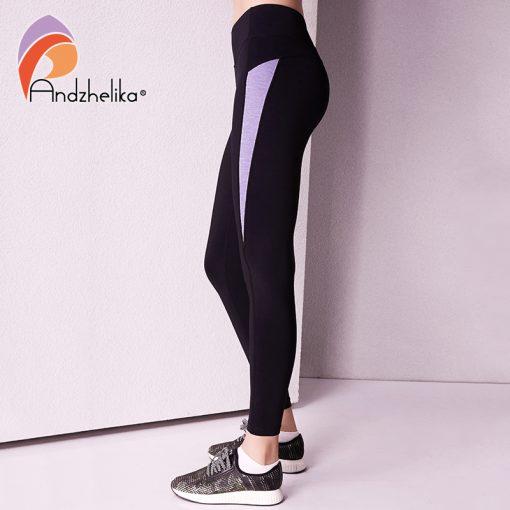 Andzhelika 2018 Women Yoga Legging Elasticity Waist Sport Workout Trousers Sexy Gym Fitness Pants Jogging Clothes Wear Sportwear 1