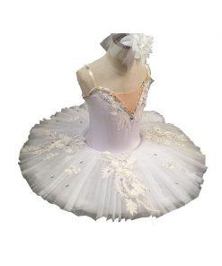 New Children Swan Lake Dance Costume Plattered Tutu Ballet Skirt Girls Performance Clothing 1
