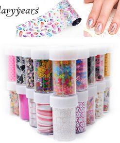 93 Designs 1 Piece Colored Nail Transfer Foil Sticker Laser Line White Black Flower Lace Decal Nail Art Sticker Wrap Holographic