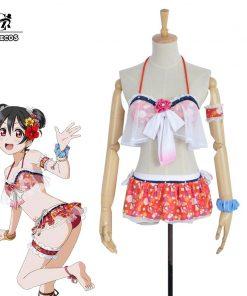ROLECOS Lovelive Cosplay Costume All Character Pool Bikini Costume Love Live Swimsuit Cosplay Kousaka Honoka Nico Rin Ayase Eli 1