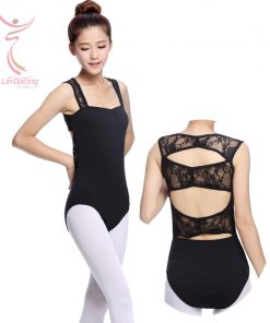 Spandex Ballet Clothing Dance Gymnastics Wear Stretch Lace Strap Back Body Black Leatard