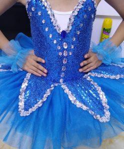 Sequins Ballet Tutu Child Swan Lake Ballet Costumes Rhinestone Ballerina Dress Kids Ballet Tutu Skirt Dance Clothes Children