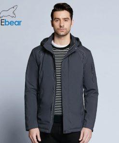 ICEbear 2018 new autumnal men's coats windbreaker warm apparel cotton padded detachable hat brand hooded man jacket MWC18120D 1