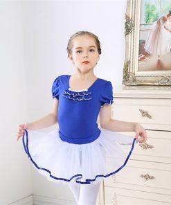 Dance Leotard Ballet Short Sleeved Gymnastic Dress Kids Ballet dresses for Girls Ballerina Tutus