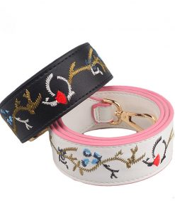 New Leather handbag strap brand show products bag strap hot and chic bag necessary women Embroidered flowers shoulder bag belts