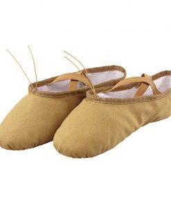 Professional Children Girls Kids Canvas Soft Sole Ballet Dance Practice Shoes 1