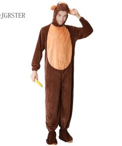 DJGRSTER Adult Animal Halloween Cosplay Costumes Monkey Plush Animal Costume For Men Halloween Jumpsuits Costumes