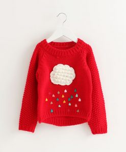 Bear Leader Girls Clothing 2018 Winter Pullover Children Sweaters Cartoon Cloud Long Sleeve Outerwear O-neck Kids Knitwear 3-7Y 1