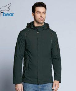 ICEbear 2018 new autumnal men's coats windbreaker warm apparel cotton padded detachable hat brand hooded man jacket MWC18120D