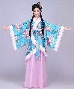 DJGRSTER 2018 New High Quality Ancient Chinese Costume Chinese Folk Dance National Dance Costume  Women's Classical Hanfu 1