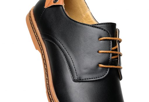 DADIJIER New 2017 Men Leather Shoes Casual Lace-up Shoes Black Brown Flat Cheap Leather Loafers Oxford shoes ST52 5