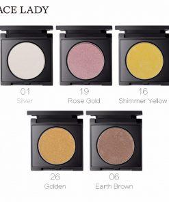 SACE LADY Highlighter Powder Makeup Bronze Face Illuminator Glow Kit Rose Gold Brighten Contour Make Up Glitter Shimmer Cosmetic 1
