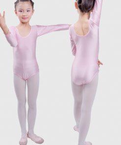 Long Sleeve Ballet Leotards for Girls Bodywear Stretch Spandex Children Dance Leotards Turnpakje  justaucorps gymnastique fille 1