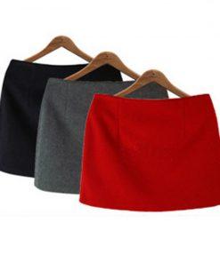 Fashion Autumn Winter Mini Skirts 2016 Women Solid Slim A-Line Pencil Skirts Plus Size Candy Colors Korea Women Skirt