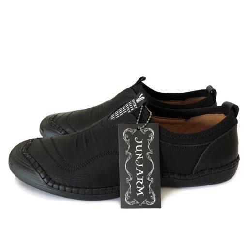 JUNJARM 2018 Spring Handmade Men Casual Shoes Brand Men Loafers Breathable Microfiber Men Flats High Quality Slip-on Men Shoes 3