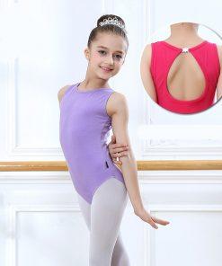 Ballet Leotards for Girls Sleeveless Gymnastics Body Ballet Children dance clothes cotton Ballerina bodysuit Jumpsuit