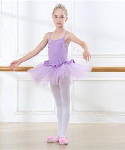 Girl Strap Ballet Dance Skirt Cute Dancing Ballet Sweetheart Tutu Dress Leotard for a ballerina Stage Performance Training