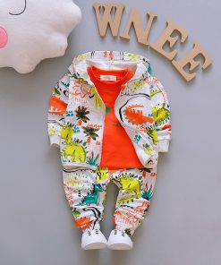 Children Boys Clothes Sets for Girl Baby Suit High Quality Cartoon Spring Autumn Coat+ T shirt +Pants Set Kids Clothing Set 1-4Y