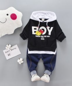 2018 Kid Clothes Sets Baby Boy Cotton Sports Hooded T Shirt Sweatshirt + Pants Children Boys Kids Casual Suits