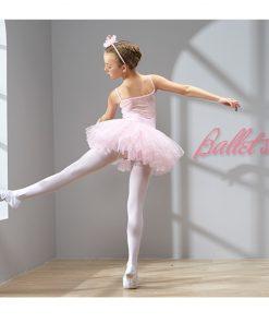 Kids Children Spaghetti Strap Ballet Tulle Dress Girls Back Mesh Gymnastics Leotard Tutu Dress Ballerina Fancy Costumes 1