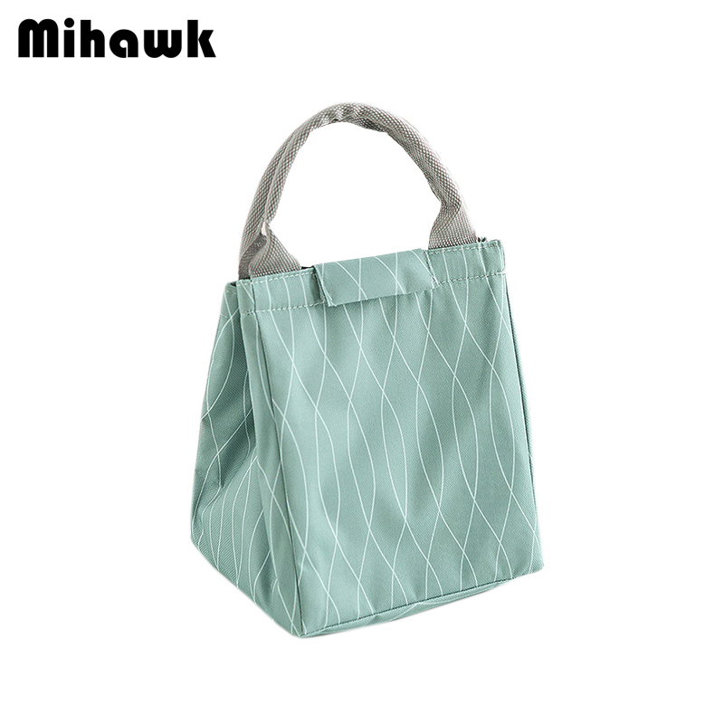 Mihawk Insulation Bag Fresh Keeping Thermal Cover For Dinners Food Cooler Bags Office Bento Lunch Package Picnic Pouch Supplies