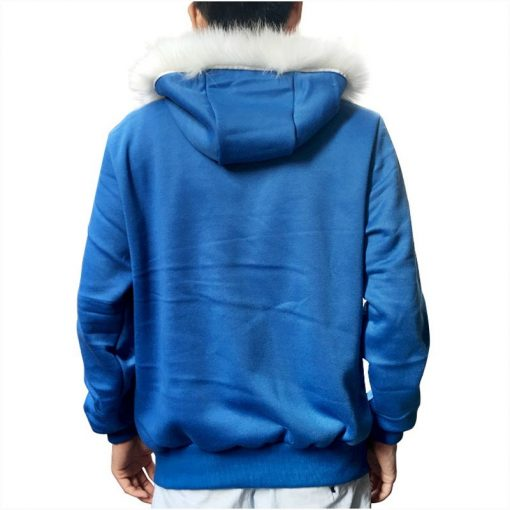 Sans Costume Undertale Cosplay Blue Hoodie Skeleton Brother Coat Men Adult Warm Thick Top Winter Zipper Long Sleeve Sweatshirt 1
